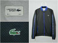 Mens Lacoste Sport Windbreaker Track Jacket Black Blue Size 3 / US S