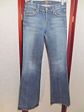 7 FOR ALL MANKIND LONG  BOOTCUT DENIM WOMENS JEANS SIZE 24 X 33 STRIPES