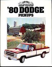 1980 Dodge Ram Pickup Truck Deluxe Sales Brochure