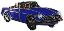MG MGB Rubber bumper car cut out lapel pin - Blue body
