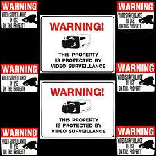 WATERPROOF VIDEO CCTV SPY CAM SECURITY CAMERAS WARNING SIGNS+STICKERS LOT