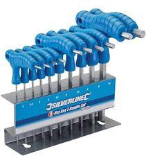 """10 CLE MALE HEXAGONALE 6 PANS A POIGNEE EN """" T """" 2 - 10 MM support rangement"""
