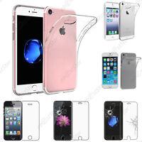 Housse Etui Coque Souple Silicone Gel Apple iPhone 7 6 6S 6S Plus SE 5S 5 4S 4