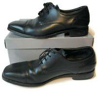 Florsheim Mens Black All Leather Cap Toe Dress Oxford Shoes Size 10 D Working