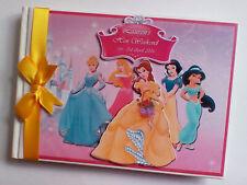 Personalised disney Princesses girls birthday guest book, album, gift for girl