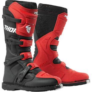 "THOR ""BLITZ XP BOOTS""  MOTOCROSS OFFROAD - RED/BLACK MX SOLE - PICK MEN'S SIZE"