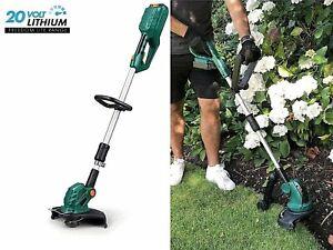 Cordless Grass Trimmer Eckman Freedom Lite 20v Lithium Garden Lawn Power Tool