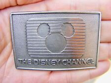 Vtg DISNEY CHANNEL Belt Buckle KIDS Cable TV Mickey Mouse Disneyland RARE VG++