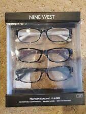 NWT Nine West Women's Reading Glasses +2.00  3 Pair Pack Readers gift set