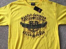 Harley Davidson Speed N Power Yellow Shirt Nwt Men's XL