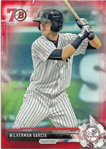 2017 BOWMAN PROSPECTS 70th ANNIVERSARY RED PARALLEL #BP147 WILKERMAN GARCIA
