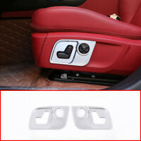 Seat Side Decorate Frame Cover ABS 2pcs For Maserati Ghibli Levante Quattroporte