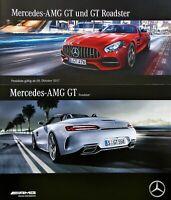 2190) Mercedes AMG GT Roadster genuine brochure Prospekt 2016 + Preisliste 2017