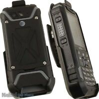 BLACK BELT CLIP HOLSTER CASE STAND FOR SONIM XP5 PHONE (XP5700)