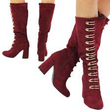 New Designers Women's Block Heel Under Knee High Girls Boots Ladies Boots Size