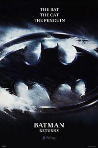 BATMAN RETURNS (1992) ORIGINAL ADVANCE B MOVIE POSTER  -  ROLLED