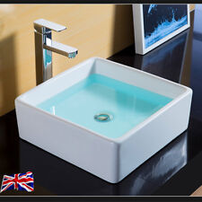 UK New Square Table Top Wash Basin Designs Small Lav Toilet Sinks