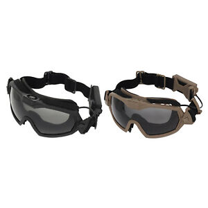 Deluxe Tactical Goggles UV400 Women Men Goggle Cycling Eyewear & Clean Cloth