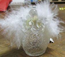 Ange en verre avec plumes à suspendre  (NO18)