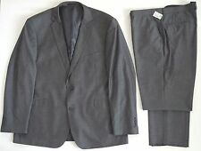 """$3495 Authentic ISAIA Napoli *BASE S"""" Gray Wool Blend Flat Front Suit 48 W-42"""