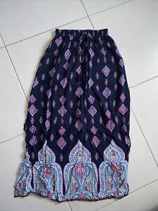 Rockmans Ladies Maxi Skirt Sz 8