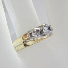 LADIES 14K YELLOW GOLD DIAMOND ENGAGEMENT RING; 4.9G
