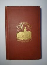1878 IMPORTANT EVENTS OF THE CENTURY 1492-1877, Revolutionary Civil War, Ads
