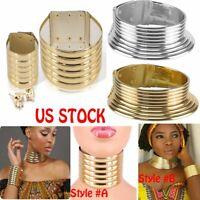 Necklace+Earings+Bracelet African Jewelry Vintage Metal Adjustable Choker Collar