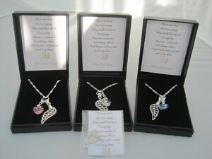 UNIQUE BABY 'ANGEL WING' INFANT LOSS BEREAVEMENT MISCARRIAGE KEEPSAKE NECKLACE