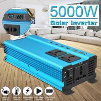3000W-5000W Solar Power Inverter LED DC12/24V To AC110V/220V Sine Wave Converter
