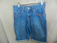 Just Blue Cuffed Hem Denim Shorts By Tractr Nwot Ladies Size 4-27 Mid-rise