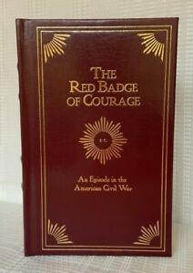 The Red Badge of Courage LEATHER Bound Hardcover Book Civil War Stephen Crane*