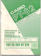 CASIO PT-82 - MANUALE DI FUNZIONAMENTO DELLO STRUMENTO MUSICALE ELETTRONICO