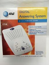 AT&T Digital Answering Machine Model #1718 White Complete Tested Works EUC