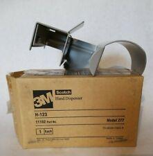 Genuine 3m Scotch H 123 Box Tape Hand Dispenser 2 3 New Metal Construction