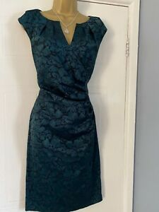STUNNING LADIES ADRIANNA PAPELL  EVENING  SATIN  PARTY  OCCASION DRESS  SZ 14
