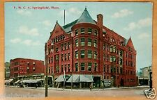 Taylor's Music House & Piano Store Y.M.C.A. Springfield MA Antique Postcard