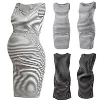 Women Mom Pregnancy Nursing Sleeveless Dress Casual Tank Vest Maternity Clothes