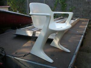 weißer Z- Stuhl - Freischwinger DDR - Vario Pur 70er Jahre - Ernst Moeckel