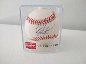Barry Larkin Signed Autographed ONL Rawlings Baseball HOF 2012 - Rawlings Case