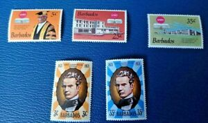 Barbados 1973 University of West Indies 25th Anniversary & 1971 Prescod Mint
