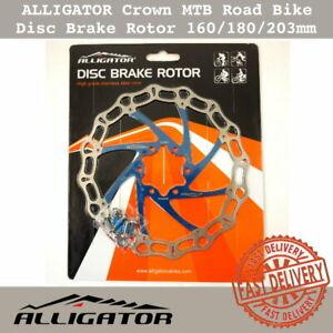 ALLIGATOR Crown MTB Road Bike Disc Brake Rotor 160/180/203mm - Blue Rotor