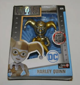 """NEW DC Comics Harley Quinn Metals Die Cast 4"""" Figure Gold Silver Ed M396 Age 14+"""
