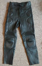 J & S leather MOTORCYCLE TROUSERS     size 12