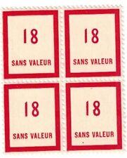 Timbre fictif N° 98 en bloc de 4 timbres Neuf **