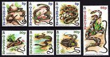 Gibraltar 2001 Snakes Complete Set SG 960 - 966 Unmounted Mint