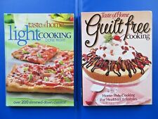 NEW BOOKS:  Taste of Home's  LIGHT COOKING DONE RIGHT & GUILT FREE    LOT OF 2