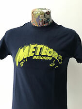 *** New *** 'Météore Records' Navy T Shirt Rockabilly Bouseux 40s/50s Freepost