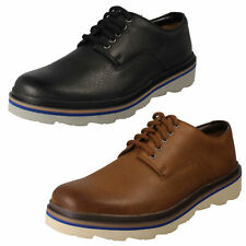 MENS CLARKS LEATHER EVERYDAY LACE UP DERBY DRESS CASUAL SHOES SIZE FRELAN EDGE