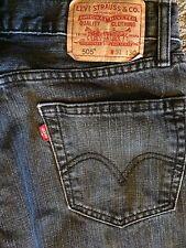 Men's Levi's 505 Gray / Black Jean Tag 31x30 Measures 32x30